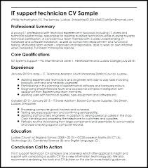 Network Technician Resume Samples Amazing Computer Support Technician Resume Network Technician Resume Samples