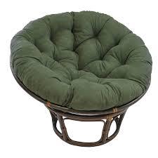 International Caravan Papasan Chair with Solid Micro Suede Cushion - 42 in.  | Hayneedle