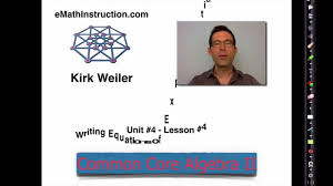 common core algebra ii unit 4 lesson 4 writing equations of exponential functions you