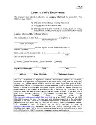 Verification Letter From Employer 028 Income Verification Letter Employment Form Template