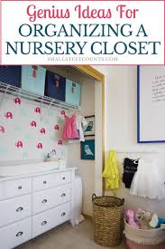 organizing a nursery closet using a dresser as a changing table