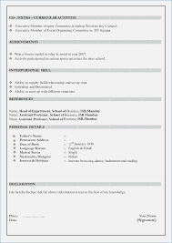 form of resume declaration samples for resume globish me