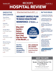 November 2019 Issue Of Beckers Hospital Review