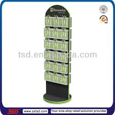 Table Top Product Display Stands Tsdw100 Custom Retail Store Rotating Double Sided Pegboard 37
