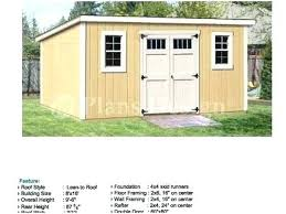 storage shed plans lean to free 12x24 8x10 outdoor 10x10 she