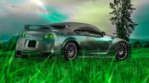 nissan gtr r35 tuning crystal nature car