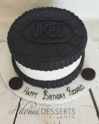 Designer Birthday Cakes In Atlanta Oreo Designed Birthday Cake Oreo Cake Desserts