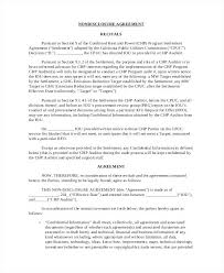 Printable Contract Word Employee Confidentiality Agreement Template ...