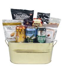 local bc beer basket with gourmet pistachios chips roasted almondore