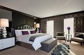 traditional bedroom ideas with color. Charcoal Grey Wall Color With Beige Carpet For Traditional Master Bedroom Ideas Contemporary Table Lamp D