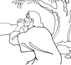 Small Picture Praying of Jesus Christ coloring page picture in the Gethsemane
