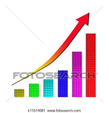Growing Bar Chart And Rising Arrow Clip Art K11514081