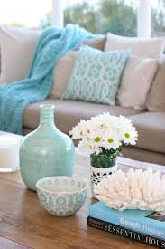 Turquoise Home Decor Accents Decoração em turquesa Sala de estar Coastal style Coastal and 98
