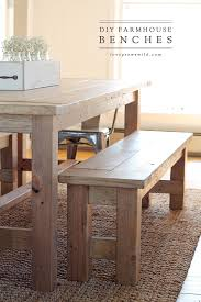 learn how to build an easy diy farmhouse bench perfect for saving space in a using benches in a dining room instead of chairs