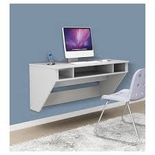 White work desk South Shore About This Item Target Designer Floating Desk White Prepac Target