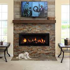 gain a sense of serenity and homecoming with the classic appeal of the fullview linear décor fireplace with wide grace front black wave liner and custom