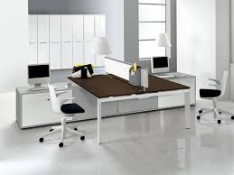 modern office table. Furniture:Luxury Home Office White Striped Wallpaper Also Low Ebony Table All Modern