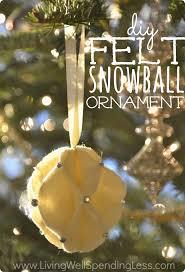 DIY Felt Snowball Ornament. Handmade OrnamentsDiy Christmas ...
