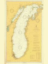 Lake Michigan Nautical Chart Historical Nautical Chart 7 1 1919 General Chart Of Lake Michigan