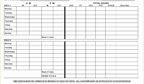 Biweekly Time Sheet Calculator Magnificent Free Printable Biweekly Time Sheets Forteeuforicco