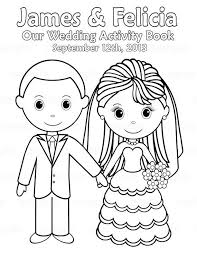 Here are some fabulous free printable valentine's day coloring pages for kids to use! Printable Personalized Wedding Coloring Activity By Sugarpiestudio 4 00 Wedding With Kids Wedding Coloring Pages Kids Wedding Activities