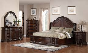 Four Piece Traditional Bedroom Set in Deep Cherry