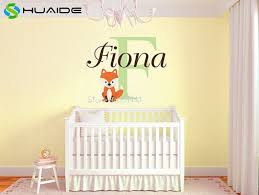 nursery wall decor custom fox name monogram vinyl wall decal baby nursery wall sticker