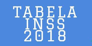 Tabela INSS 2018 Valores