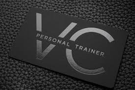 Free Personal Cards Free Impressive Hard Suede Personal Trainer Business Card