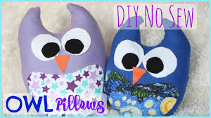 Owl Pillow Pattern Diy No Sew Owl Pillow Pinterest Inspired Youtube