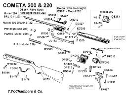 220 Cometa Airgun Spares Chambers Gunmakers Airgun