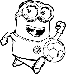 Small Picture Minion Coloring Pages At glumme