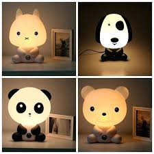 plug in night light baby new baby room panda rabbit dog bear cartoon night sleeping light plug in night light baby