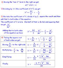 solving quadratic equations formula