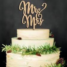 Wooden Mr And Mrs Wedding Cake Topper Hardwood Cake Decoration Gift