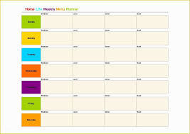 017 Free Weekly Planner Template Word Of Menu Templates For