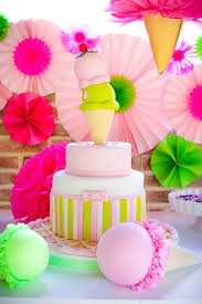 Karas Party Ideas Colorful Ice Cream Themed Birthday Party