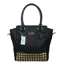 Coach Legacy Tanner In Studded Signature Small Black Crossbody Bags BNP