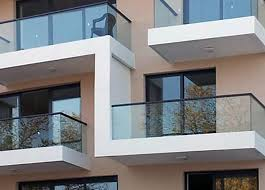 glass railings with upper mounting