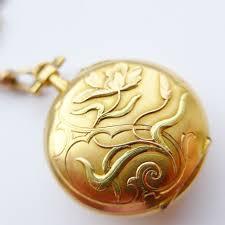 antique french art nouveau 18ct coloured gold las miniature watch pendant chain antique box