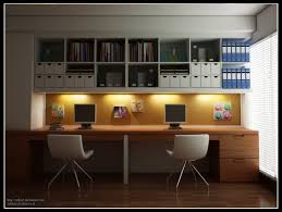 amazing modern home office room design ideas brown laminated wooden floor white orange wall brown laminated amazing designer desks home