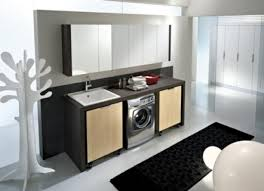 ... Cool Photos Ideas To Design A Utility Room : Interesting Laundry Room  Design With Rectangular Unframed ...