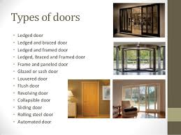 Types of doors ...