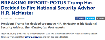 Hr Report Awesome BREAKING REPORT POTUS Trump Has Decided To Fire National Security