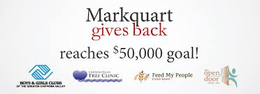 from november 12 2016 to christmas 2016 markquart motorarkquart toyota donated 100 for every new and used vehicle sold as part of markquart gives