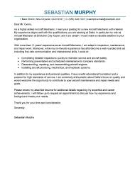 Awesome Collection Of Best Aircraft Mechanic Cover Letter Examples