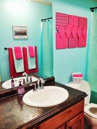 blue and pink bathroom designs. A Vision To Remember All Things Handmade Blog: Hot Pink And Aqua Girls Bathroom Blue Designs