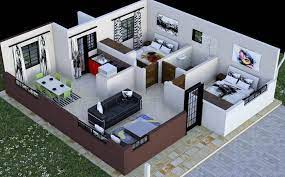 2 bedroom house plan in kenya with
