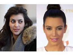 it s very rare to see kim without all of the makeup she looks like a pletely diffe person