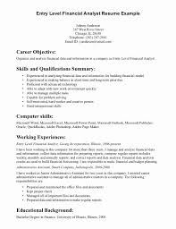 Career Objective On Resume Resume Career Summary Examples New How to Write A Qualifications 45